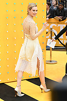 """LONDON, UK. June 18, 2019: Lily James arriving for the UK premiere of """"Yesterday"""" at the Odeon Luxe, Leicester Square, London.<br /> Picture: Steve Vas/Featureflash"""