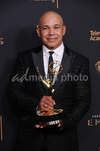 10 September  2017 - Los Angeles, California - Eddie Perez. 2017 Creative Arts Emmys - Press Room held at Microsoft Theatre L.A. Live in Los Angeles. Photo Credit: Birdie Thompson/AdMedia