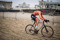 Pim Ronhaar (NED/Pauwels Sauzen-Bingoal) on his way to a rainbow jersey<br /> <br /> UCI 2021 Cyclocross World Championships - Ostend, Belgium<br /> <br /> U23 Men's Race<br /> <br /> ©kramon