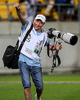 Hunter Christian the Human Drone in action from the 2017 HSBC World Sevens Series at Westpac Stadium in Wellington, New Zealand on Saturday, 28 January 2017. Photo: Simon Watts / lintottphoto.co.nz