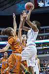 point guard Khadijiah Cave (55) in action during Big 12 women's basketball championship final, Sunday, March 08, 2015 in Dallas, Tex. (Dan Wozniak/TFV Media via AP Images)