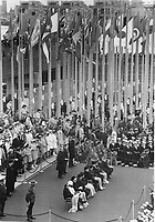 1967 FILE PHOTO - ARCHIVES -<br /> <br /> Huddled under warm blankets; the VIPs who attended closing day ceremonies for Expo 67 yesterday had it easier than the masses who sat through 75 minutes of eulogies while a stiff wind turned them blue. But it was like New Year's Eve in the pavilion bars where crowds whooped it up at festive wakes.<br /> <br /> 1967<br /> <br /> PHOTO : Boris Spremo - Toronto Star Archives - AQP