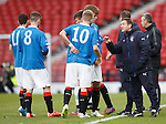 Rangers coach Alan Boyd with the young players