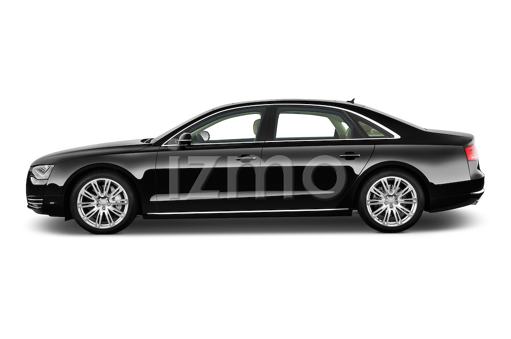 Driver side profile view of a 2013 Audi A8 L W12 4 Door Sedan 4WD