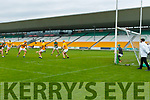 Mikey Boyle, Kerry scores his sides first goal at the Allianz Hurling League Division 2A Final match between Antrim and Kerry at Bord na Mona O'Connor Park in Tullamore, Offaly.