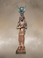 Ancient Egyptian bronze statue , Old Kingdom. Egyptian Museum, Turin.
