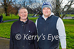 Taking a stroll in the Tralee Town park on Tuesday, l to r: Gerard and Mark O'Sullivan.