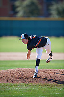 Drew Dowd (4) of Junipero Serra High School in Belmont, California during the Baseball Factory All-America Pre-Season Tournament, powered by Under Armour, on January 13, 2018 at Sloan Park Complex in Mesa, Arizona.  (Mike Janes/Four Seam Images)