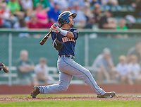 1 September 2013: Connecticut Tigers infielder Steven Negron, a native of Tampa, Florida, in action against the Vermont Lake Monsters at Centennial Field in Burlington, Vermont. The Lake Monsters fell to the Tigers 6-4 in 10 innings of NY Penn League action. Mandatory Credit: Ed Wolfstein Photo *** RAW Image File Available ****