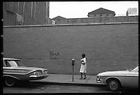 Street photography by Larence Shustak, NYC 1960's and San Francisco 1980's. (In many cases the original negatives are not available, so these scans are from vintage prints made by Shustak).