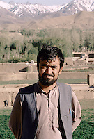 Head of the Hizb-i-wahdat Mujahedin army in Bamiyan. On is back, the Baba range Mountain culminating at 5143 meters..Spiritual and political leader of the Hazara people Mohammad Karim Khalili, head of the Hizb-i-wahdat.