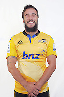 Andre Taylor. Hurricanes Super Rugby official headshots at Rugby League Park, Wellington, New Zealand on Friday, 24 January 2014. Photo: Dave Lintott / lintottphoto.co.nz
