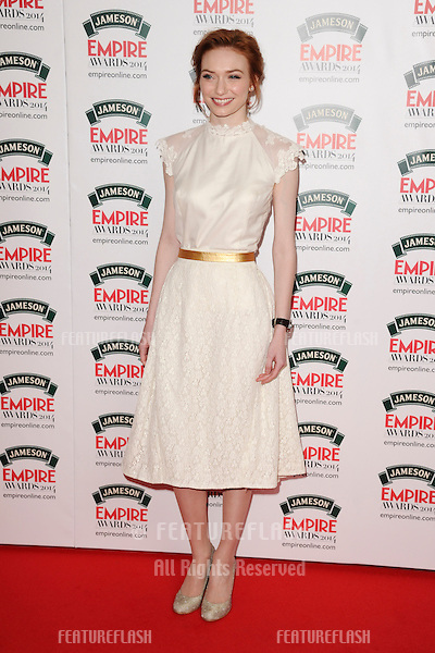 Eleanor Tomlinson<br /> arives for the Empire Magazine Film Awards 2014 at the Grosvenor House Hotel, London. 30/03/2014 Picture by: Steve Vas / Featureflash