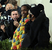September 13, 2021.Rihanna , A$AP Rocky attend The 2021 Met Gala Celebrating In America: A Lexicon Of Fashion at<br /> Metropolitan Museum of Art  in New York September 13, 2021 Credit:RW/MediaPunch