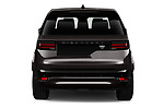 Straight rear view of 2021 Land Rover Discovery R-Dynamic-HSE 5 Door SUV Rear View  stock images