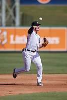 Detroit Tigers third baseman Spencer Torkelson (19) during practice before a Florida Instructional League intrasquad game on October 24, 2020 at Joker Marchant Stadium in Lakeland, Florida.  (Mike Janes/Four Seam Images)