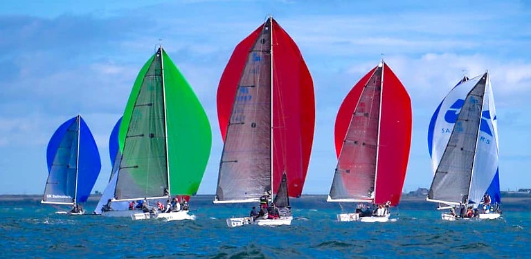 A 27-boat fleet of 1720 sportsboats are contesting the European Championships at Waterford Harbour
