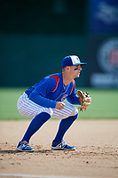 South Bend Cubs third baseman Zack Short (3) during a game against the Kane County Cougars on May 3, 2017 at Four Winds Field in South Bend, Indiana.  South Bend defeated Kane County 6-2.  (Mike Janes/Four Seam Images)