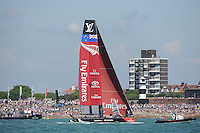 Emirates Team New Zealand, JULY 23, 2016 - Sailing:  during day one of the Louis Vuitton America's Cup World Series racing, Portsmouth, United Kingdom. (Photo by Rob Munro/Stewart Communications)