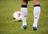 Landon Donovan, Nike socks.  The United States defeated El Salvador, 5-1, during the quarterfinals of the CONCACAF Gold Cup at M&T Bank Stadium in Baltimore, MD.