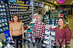 Breda Hannon, Joanne Sheahan and Josephine Flaherty of McKenna's Listowel standing in their new paint shop.