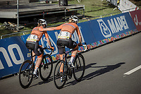 Ellen Van Dijk (NED/Trek Segafredo), Annemiek Van Vleuten (NED/Movistar) post finish <br /> <br /> Women Elite – Road Race (WC)<br /> Race from Antwerp to Leuven (157.7km)<br /> <br /> ©kramon