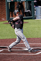 South Carolina Gamecocks first baseman David Mendham (26) at bat against the Vanderbilt Commodores at Hawkins Field in Nashville, Tennessee, on March 21, 2021. The Gamecocks won 6-5. (Danny Parker/Four Seam Images)