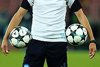 Palloni della Champions League <br /> Napoli 26-09-2017 Stadio San Paolo<br /> Football Calcio UEFA Champions League 2017/2018<br /> Napoli - Feyenoord<br /> Group F<br /> Foto Cesare Purini / Insidefoto