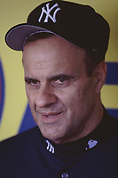 New York Yankees Manager Joe Torre during a 2001 season MLB game at Angel Stadium in Anaheim, California. (Larry Goren/Four Seam Images)