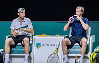 Rotterdam, The Netherlands, 27 Februari 2021, ABNAMRO World Tennis Tournament, Ahoy, Qualyfying doubles match: Griekspoor/van de Zandschulp (NED)<br /> Photo: www.tennisimages.com/henkkoster
