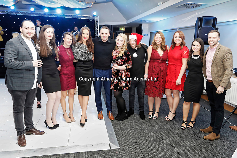 Pictured: <br /> Re: Swansea City FC Christmas party at the Liberty Stadium, Wales, UK. Thursday 14 December 2017