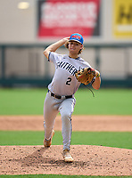 Gaither Cowboys pitcher Austin Grause (2) during the 42nd Annual FACA All-Star Baseball Classic on June 6, 2021 at Joker Marchant Stadium in Lakeland, Florida.  (Mike Janes/Four Seam Images)