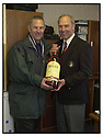 ALEX TOTTEN PRESENTS THE GALLON OF WHISKY TO ????? WHO WON IN IN THE BACK THE BAIRNS RAFFLE AT THE RAITH ROVERS GAME....