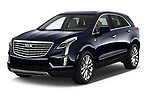 2019 Cadillac XT5 Platinum 5 Door Suv Angular Front stock photos of front three quarter view