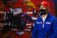 29th April 2021; Algarve International Circuit, in Portimao, Portugal; F1 Grand Prix of Portugal, driver and team arrival and inspection day; Nikita Mazepin RUS, Haas F1 Team, F1 Grand Prix of Portugal press conference