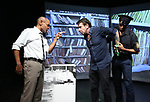 "Royston Scott, Tony Stinkmetal and Justin Law from the Cast of ""Tony Stinkmetal's SlashR""on September 14, 2018 at the Gene Frankel Theatre in New York City."