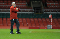 Warren Gatland head coach of Wales during the Wales Captains Run at The Principality Stadium in Cardiff, Wales, UK. Friday 16 November 2018