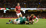 Wales Rhys Patchell scores his sides second try<br /> <br /> Photographer Ian Cook/CameraSport<br /> <br /> 2019 Under Armour Summer Series - Wales v Ireland - Saturday 31st August 2019 - Principality Stadium - Cardifff<br /> <br /> World Copyright © 2019 CameraSport. All rights reserved. 43 Linden Ave. Countesthorpe. Leicester. England. LE8 5PG - Tel: +44 (0) 116 277 4147 - admin@camerasport.com - www.camerasport.com