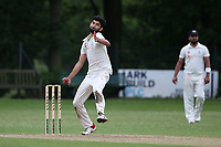 N Dwivedi in bowling action for Wanstead during Wanstead and Snaresbrook CC (fielding) vs Brentwood CC, Hamro Foundation Essex League Cricket at Overton Drive on 19th June 2021