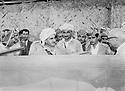 Iraq 1970 .Mustafa Barzani , on his right, Franso Hariri and first right Kamuran Bedir Khan during the 8th congress of KDP in Nawperdan  Irak 1970 Mustafa Barzani, a cote de lui a droite, Franso Hariri et a droite Kamuran Bedir Khan au 8 eme congres du PDK a Nawperdan