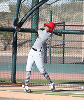 Jordan McCants participates in the 2020 MLB Dream Series on January 17-20, 2020 at the Los Angeles Angels training complex in Tempe, Arizona (Bill Mitchell)