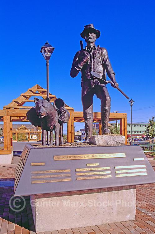 Whitehorse, YT, Yukon Territory, Canada - Commemorative Statue