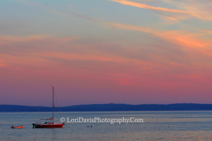 Sunset Sailboat  #S17