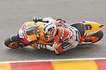 Spain's rider Dani Pedrosa competes in the MotoGP World Championship, Gran Premio d'Italia at Mugello circuit on June 6, 2010.