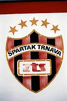 Spartak Trnava crest at FC Spartak Trnava Football Ground, Spartak Stadium, Trnava, Slovakia, pictured on 3rd September 1996