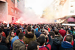Atletico Madrid supporters before match between Atletico de Madrid and FC Barcelona Champions League 2015/2016 Quarter-Finals 2nd leg match. April 13, 2016. (ALTERPHOTOS/BorjaB.Hojas)