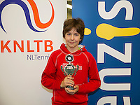 Rotterdam, The Netherlands, March 13, 2016,  TV Victoria, NOJK 12/16 years, Runner up boys 12 years Luka Novakovic (NED) <br /> Photo: Tennisimages/Henk Koster