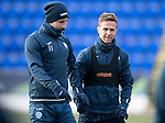 St Johnstone Training…12.12.17<br />Michael O'Halloran and Chris Millar pictured during training this morning at McDiarmid Park ahead of tomorrow's game against Aberdeen<br />Picture by Graeme Hart.<br />Copyright Perthshire Picture Agency<br />Tel: 01738 623350  Mobile: 07990 594431