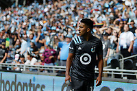 ST. PAUL, MN - AUGUST 21: Emanuel Reynoso #10 of Minnesota United FC prepares for a corner kick during a game between Sporting Kansas City and Minnesota United FC at Allianz Field on August 21, 2021 in St. Paul, Minnesota.