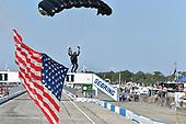 2017 IMSA WeatherTech SportsCar Championship<br /> Mobil 1 Twelve Hours of Sebring<br /> Sebring International Raceway, Sebring, FL USA<br /> Saturday 18 March 2017<br /> flag, parachute<br /> World Copyright: Michael L. Levitt/LAT Images<br /> ref: Digital Image levitt_seb_0317-19849